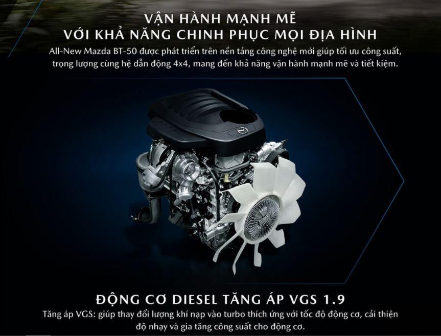 """Không chỉ sử dụng chung khung gầm, Mazda BT-50 2021 còn """"bê nguyên"""" khối động cơ của Isuzu D-Max 2021 sang."""