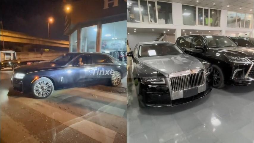 Hình ảnh hiếm hoi của Rolls-Royce Ghost 2021 đầu tiên Việt Nam
