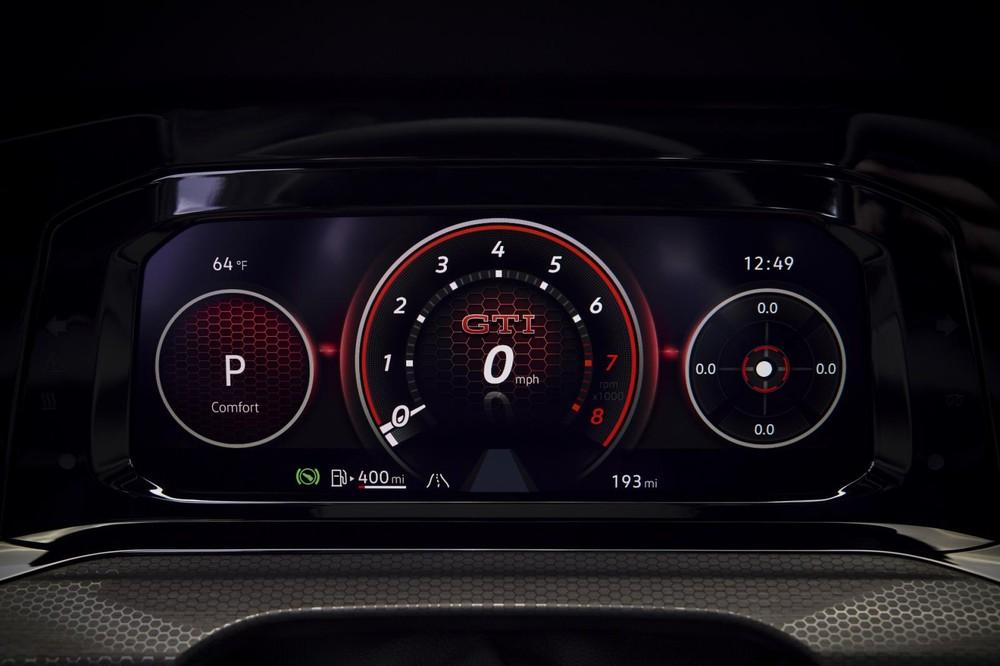 Bảng đồng hồ kỹ thuật số của Volkswagen Golf GTI 2022