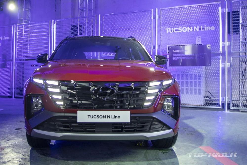 Cận cảnh thiết kế đầu xe của Hyundai Tucson N Line 2021