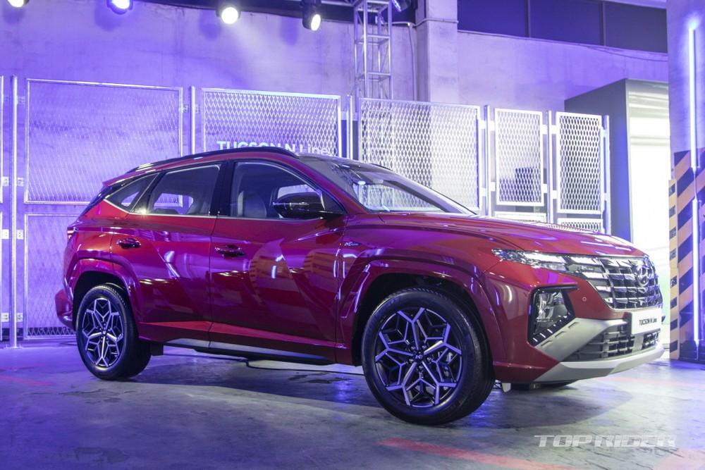 Hyundai Tucson N Line 2021 đang được trưng bày tại Hàn Quốc