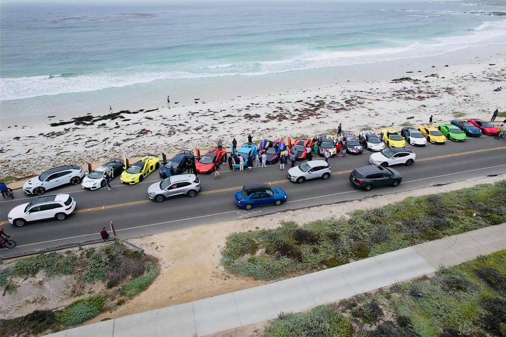 Các siêu xe tham dự chủ yếu đến từ Lamborghini