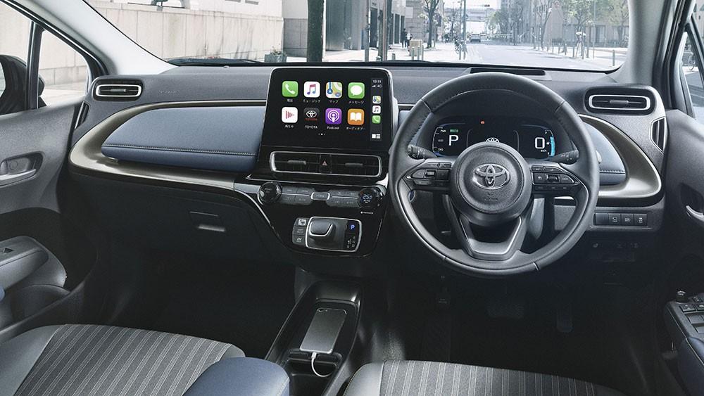 Nội thất bên trong Toyota Prius c 2021