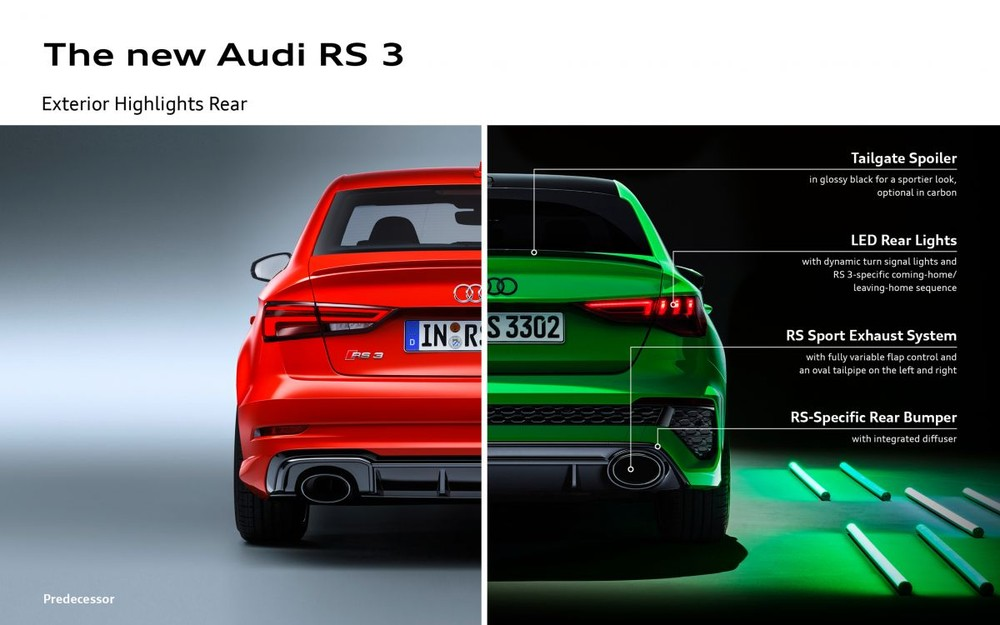 Audi RS3 Sportback và Audi RS3 Sedan 2021