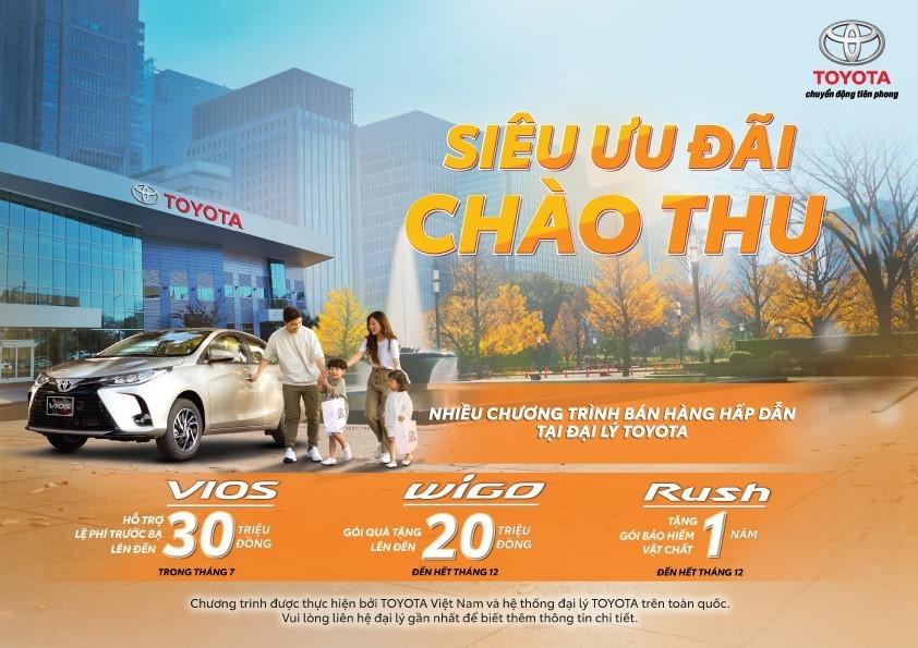 Trong các khuyến mãi đang được Toyota Việt Nam áp dụng, chương trình ưu đãi dành cho Toyota Vios đang có giá trị lớn nhất.