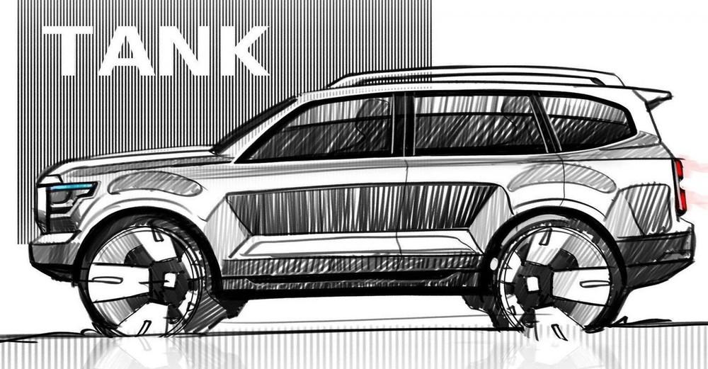 Great Wall Tank 600 có kích thước lớn hơn Toyota Land Cruiser Prado
