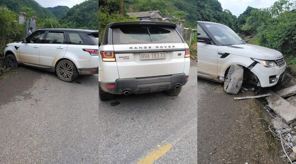 Hiện trường vụ tai nạn của chiếc SUV hạng sang Range Rover Sport