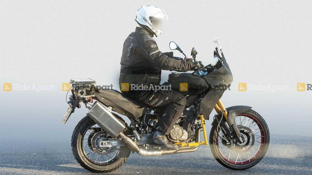 Hình ảnh Aprilia Tuareg 660 trong lần chạy thử gần nhất