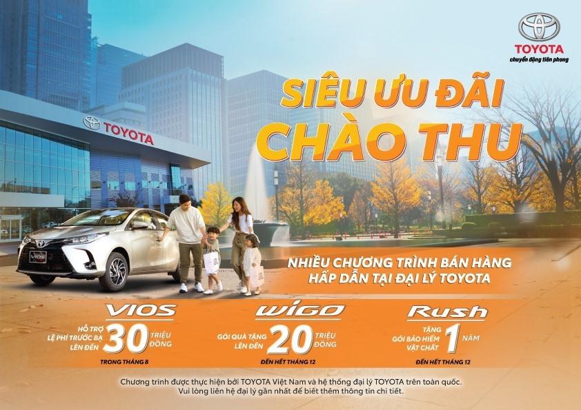Các chương trình khuyến mãi hấp dẫn được Toyota Việt Nam áp dụng trong tháng 8/2021.
