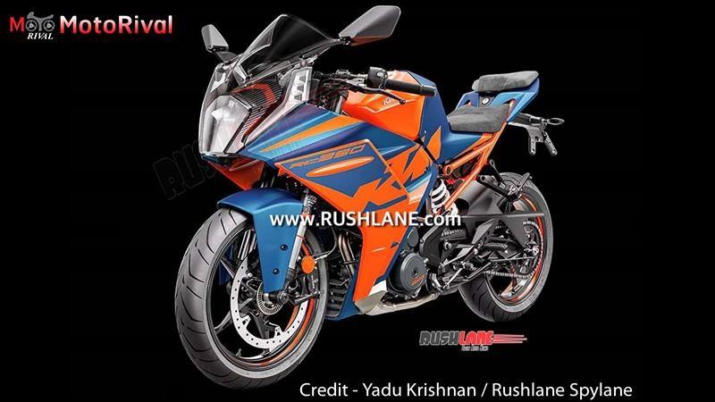 Hình ảnh rõ nét với họa tiết, tem mới trên KTM RC 390 2022