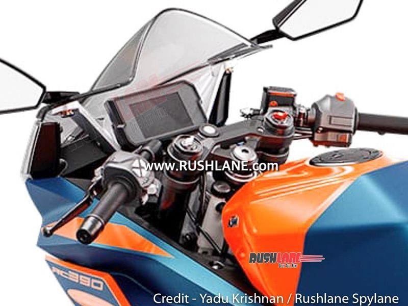 Xe sẽ được trang bị màn hình màu TFT giống như KTM Duke 390 hiện tại