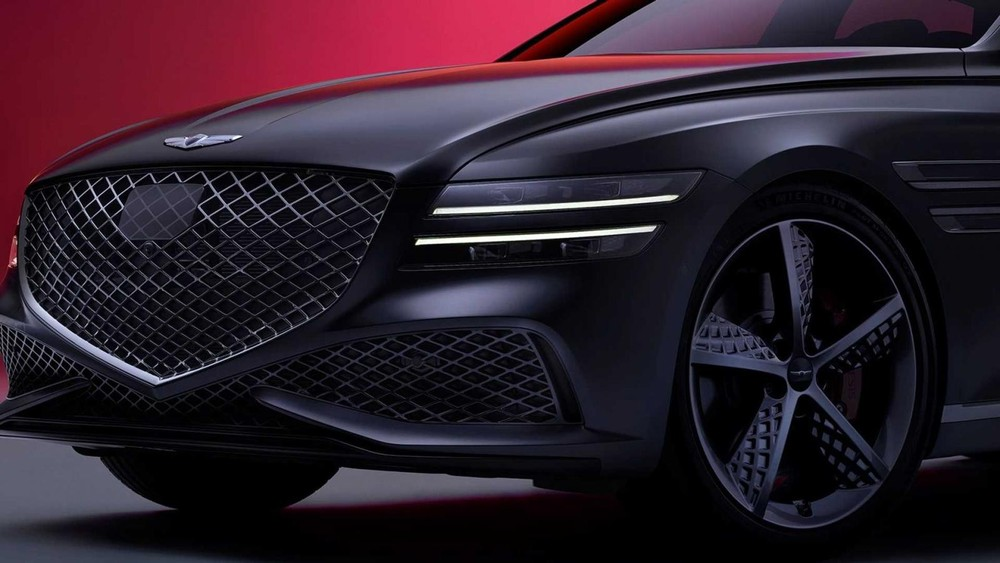 Thiết kế đầu xe của Genesis G80 Sport 2022