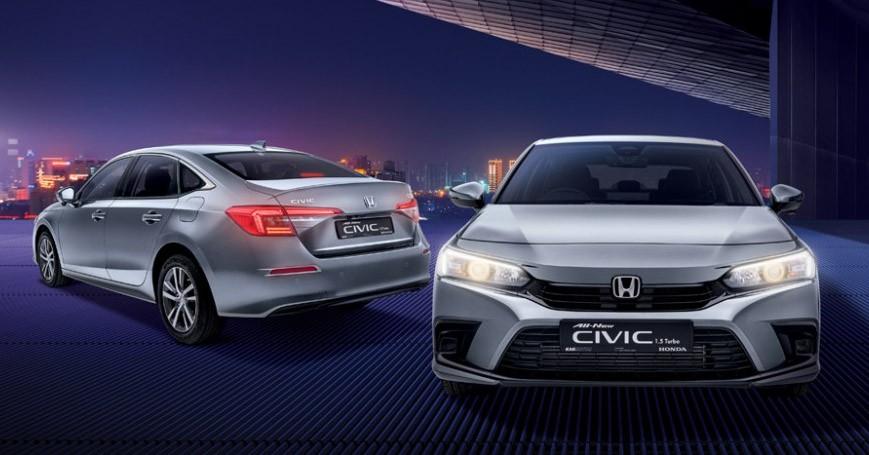 Honda Civic 2022 tại Singapore có thiết kế không khác gì xe ở Thái Lan