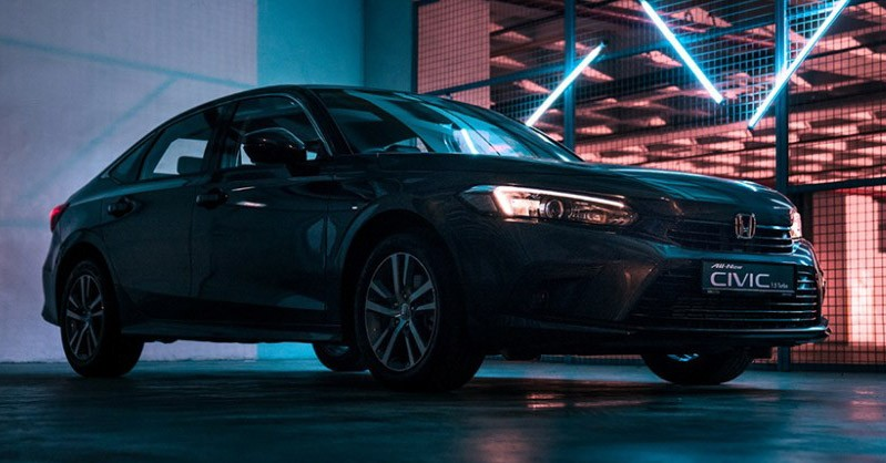 Honda Civic 2022 tại Singapore dùng đèn pha Halogen