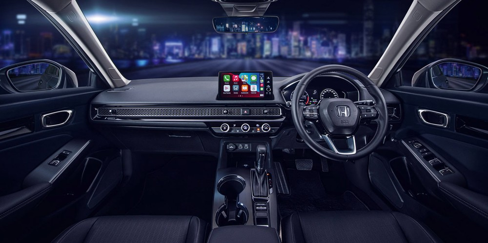 Honda Civic 2022 ở Singapore có 2 màn hình 7 inch và 9 inch trong nội thất