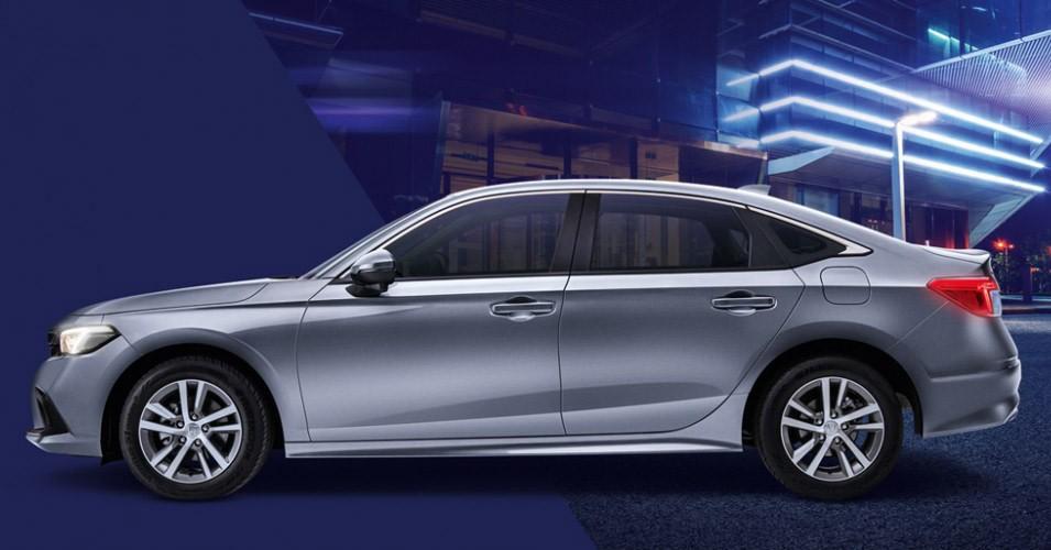 Honda Civic 2022 tại Singapore dùng vành 16 inch