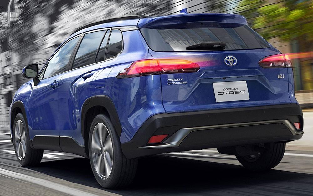 Thiết kế đằng sau của Toyota Corolla Cross 2021 dành cho Nhật Bản