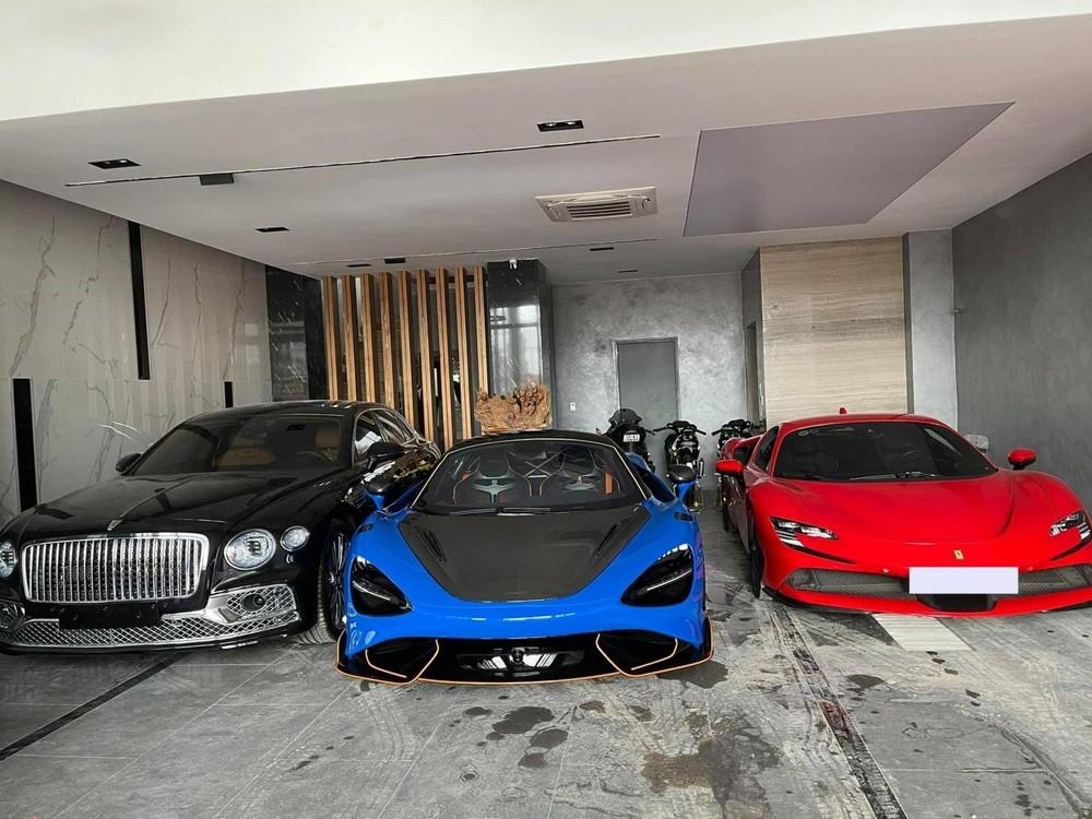 Garage của đại gia lan đột biến Củ Chi với sự xuất hiện của Ferrari SF90 Stradale, McLaren 765LT và Bentley Flying Spur Edition, ngoài ra chủ vườn lan này còn đang sở hữu Lamborghini Aventador SVJ
