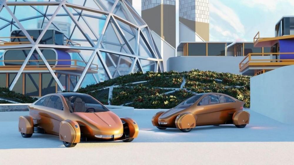 Soventem mới đây đã chia sẻ những hình ảnh kỹ thuật số về hai mẫu xe điện cấu hình 2 chỗ và 4 chỗ