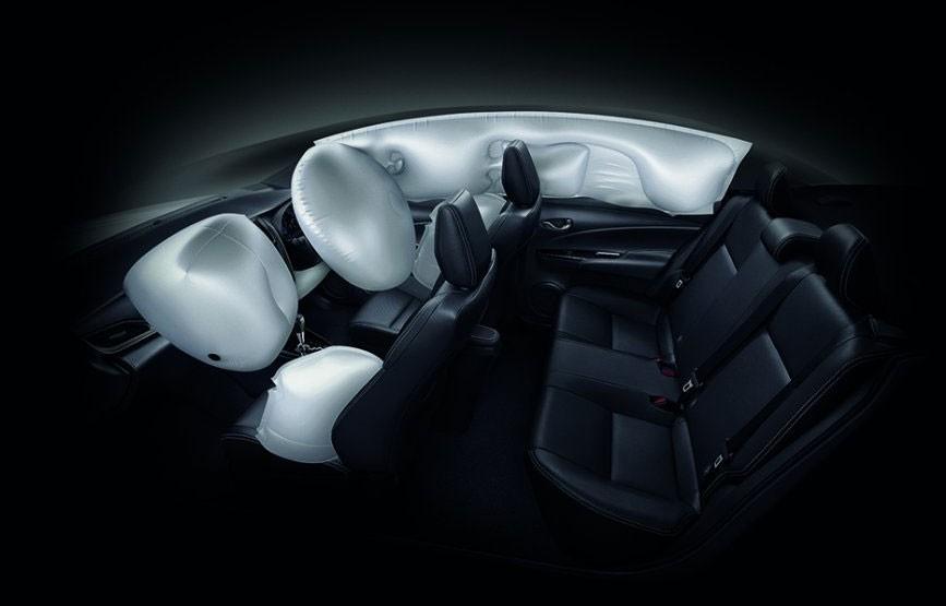Toyota Yaris 2021 có 7 túi khí