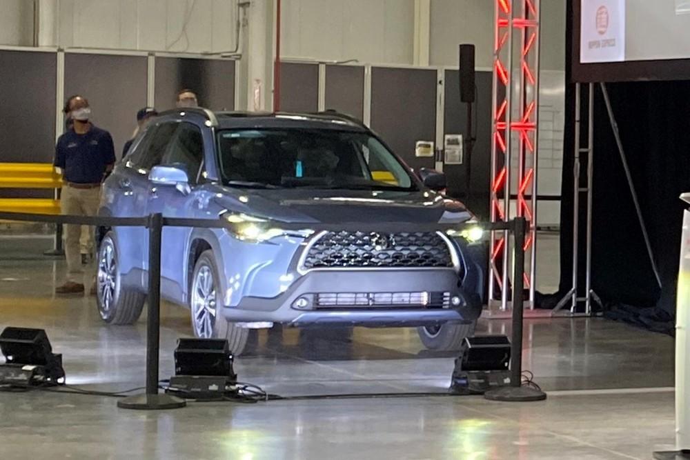 Chiếc Toyota Corolla Cross được trưng bày trong sự kiện