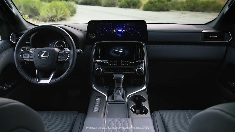 Khoang lái của Lexus LX 2022