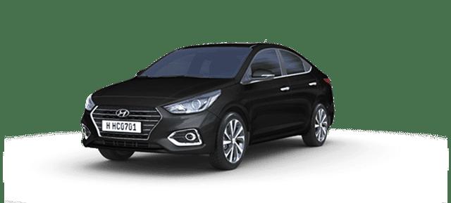 Mẫu Hyundai Accent màu đen