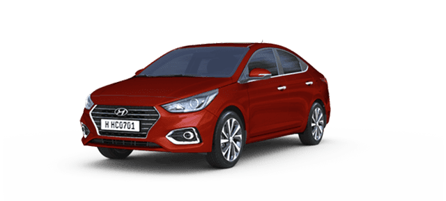 Mẫu Hyundai Accent màu đỏ