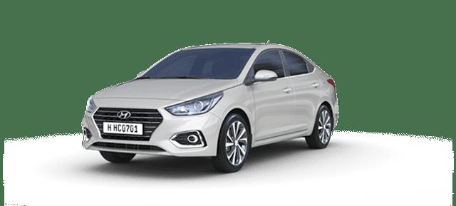 Mẫu Hyundai Accent màu trắng