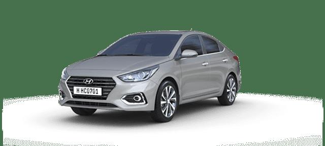 Mẫu Hyundai Accent màu bạc