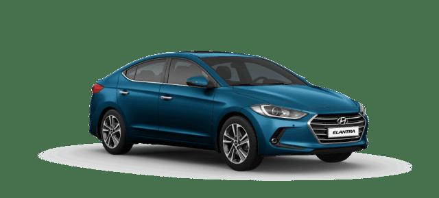 Mẫu Hyundai Elantra màu xanh