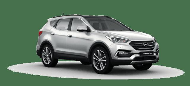 Mẫu Hyundai Santa Fe màu bạc