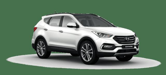 Mẫu Hyundai Santa Fe màu trắng