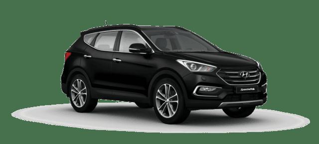 Mẫu Hyundai Santa Fe màu đen
