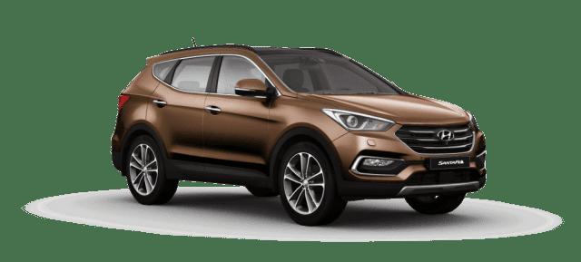 Mẫu Hyundai Santa Fe màu nâu