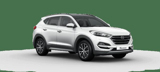 Mẫu Hyundai Tucson màu trắng
