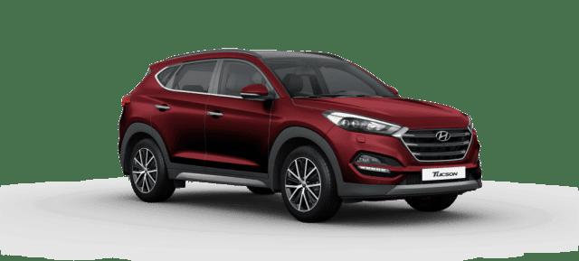 Mẫu Hyundai Tucson màu đỏ