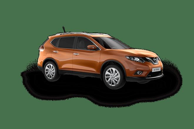 Mẫu Nissan X-Trail màu cam