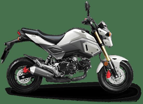 Mẫu Honda MSX màu trắng ghi đen