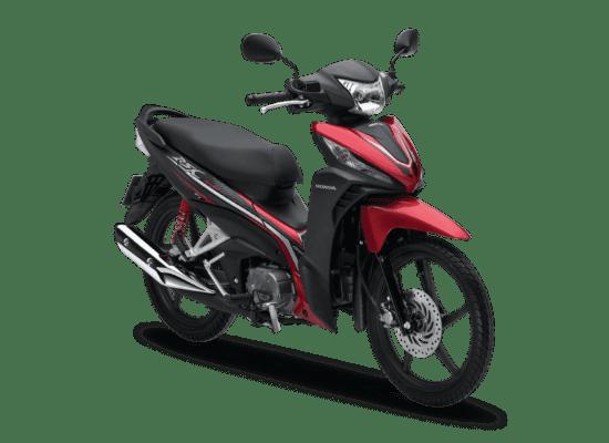 Mẫu Honda Wave RSX màu đen đỏ