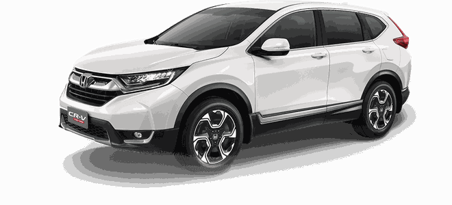 Mẫu Honda CR-V màu trắng