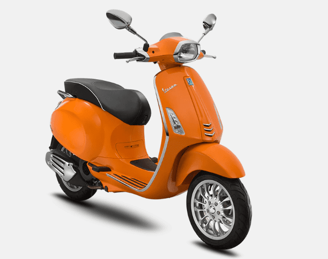 Mẫu Vespa Sprint 125 ABS màu Orange Taormina