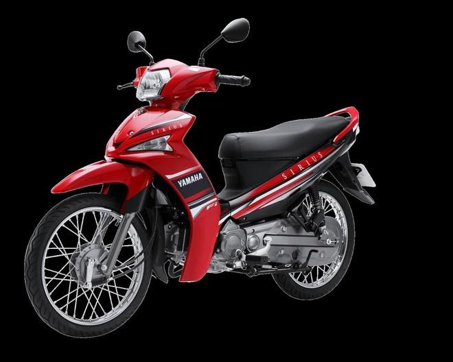 Mẫu Yamaha Sirius FI phanh cơmàu đỏ