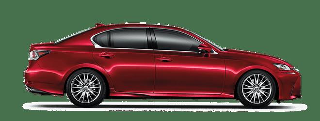 Mẫu Lexus GS màu đỏ