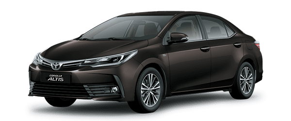 Mẫu Toyota Corolla Altis màu nâu