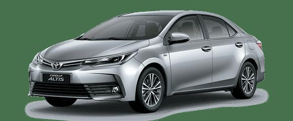 Mẫu Toyota Corolla Altis màu bạc