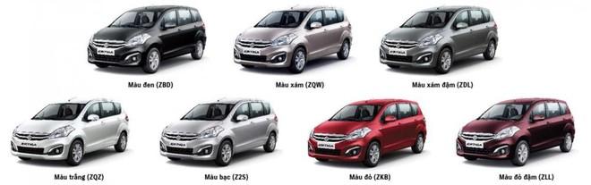 màu sắc ngoại thất của Suzuki Ertiga