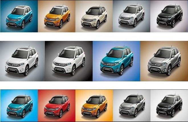 màu sắc ngoại thất của Suzuki Vitara