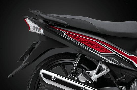 Thiết kế thân xe của Honda Blade 110