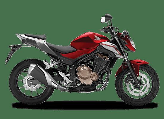Mẫu Honda CB500F màu đỏ đen